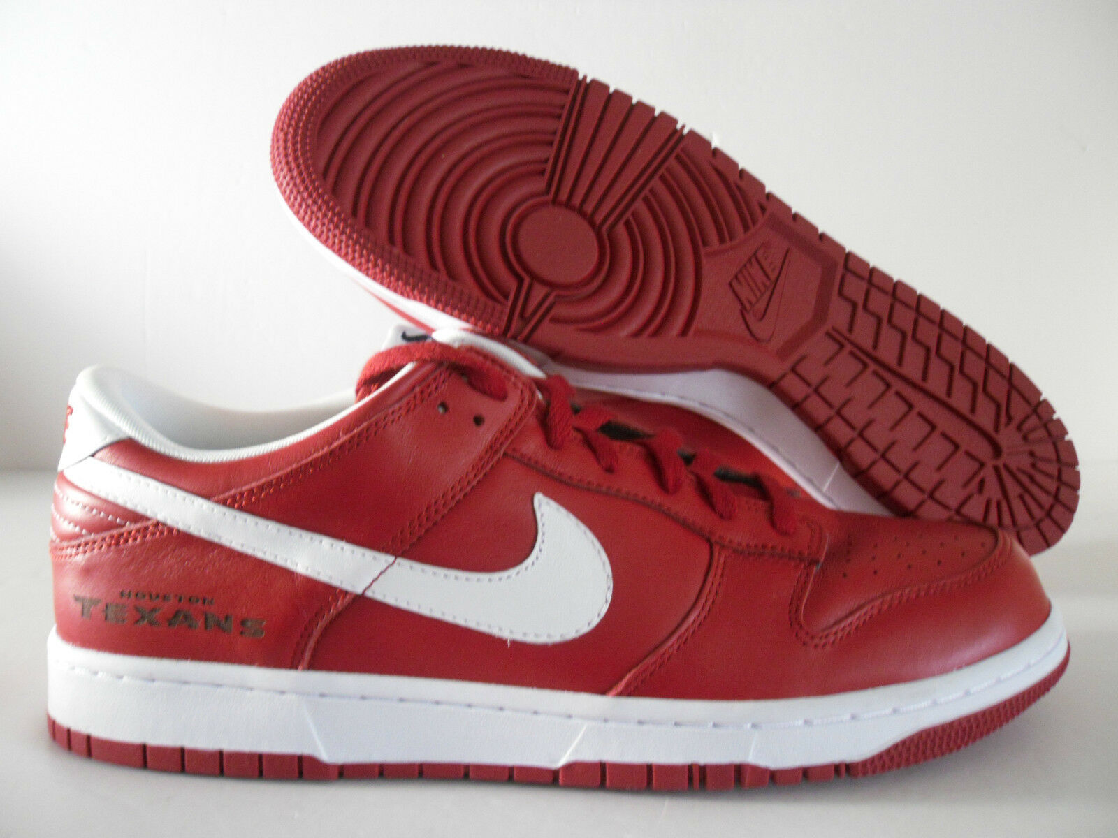 NIKE DUNK LOW iD NFL HOUSTON TEXANS RED SZ 12.5 [535081-901]