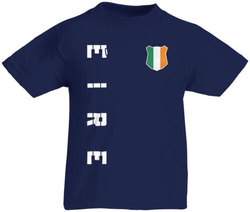Kinder T-Shirt Trikot Irland Éire inkl Name /& Nummer S M L XL XXL Fussball Tea