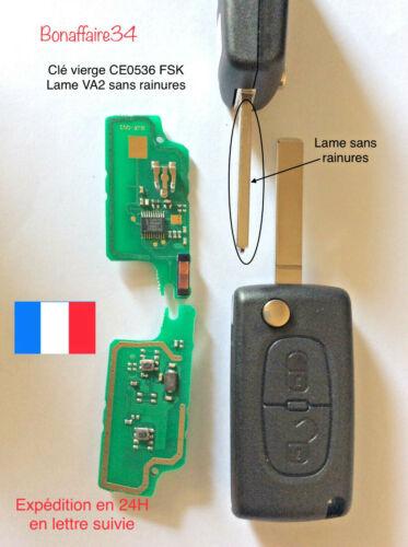 Clé générique Vierge CE0536 FSK VA2 Peugeot Citroen PArtner ET Berlingo Testé