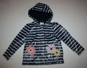 Girls' Clothing (newborn-5t) Lovely Neu Gymboree Mädchen Wachsende Blumen Gestreift Marineblau Weiß Regenmantel Nwt Clothing, Shoes & Accessories