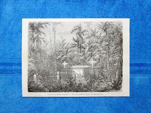 Gravure-Annee-1863-Cimitiere-protestant-Bangkok-Thailande-Cimitero