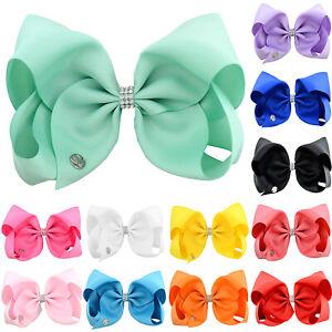 Baby-Girls-Big-Bows-Hair-Clip-Boutique-Ribbon-Hairpin-Kid-Grosgrain-Barrette-8-039-039