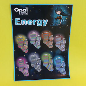 7-95-100g-Opal-Energy-100g-Sockenwolle-4-faedig-4-fach-Musterbildend-Strumpfgarn