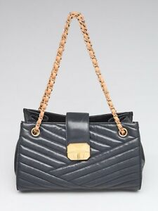 5cbc37d44d95 Image is loading Chanel-Black-Chevron-Quilted-Leather-Gabrielle-Tote-Bag