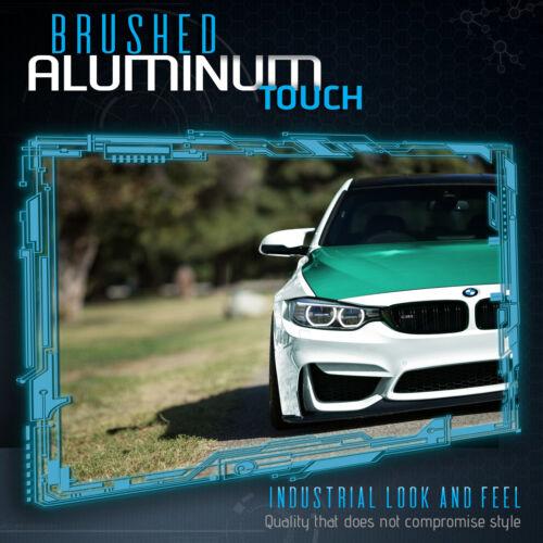 "48/"" x 60/"" Inch Emerald Green Brushed Aluminum Vinyl Wrap Sticker Air Free"