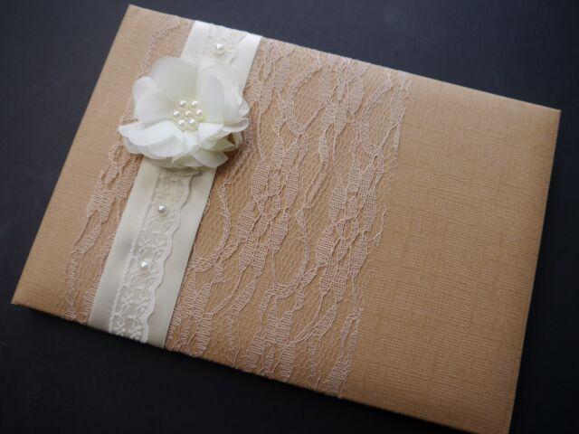Personalised Guest Book, Wedding, Anniversary, Vintage, Rustic