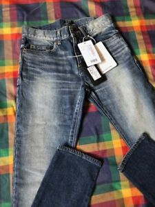 Saint-Laurent-Low-Rise-Blue-Jeans-Size-28