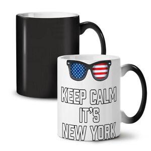 Keep Calm USA New York NEW Colour Changing Tea Coffee Mug 11 oz | Wellcoda