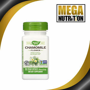 Nature-039-s-Way-Chamomile-Flower-350mg-100-Vegetarian-Capsules-Healthy-Digestion