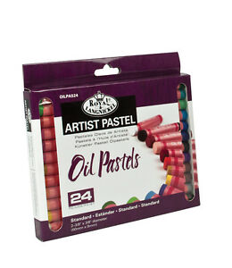 24-QUALITY-PIGMENT-COLOUR-OIL-PASTELS-SET-ARTISTS-DRAWING-amp-SKETCHING-OILPA-524