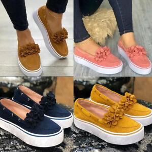 Women-Comfy-Platform-Casual-Shoes-Canvas-Slip-On-Loafers-Fashion-Flower-Pumps