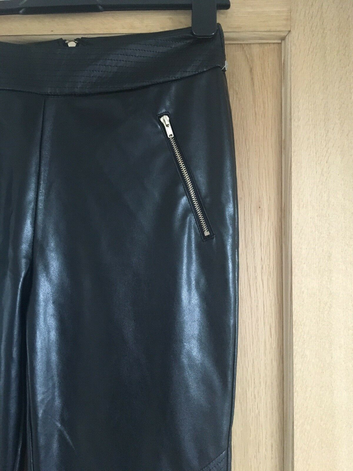 90a30e3d296651 MISSGUIDED Faux Leather Leggings. Size 8 PVC ndwqcp13444-Leggings ...