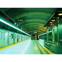 1 Wall Subway Train Platform Photo Mural Poster 3.15 X 2.32m