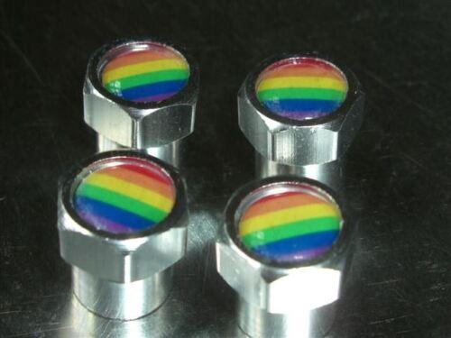 Hippychick ha fabricado la paz Gay Arcoiris O Vw Camper de neumáticos Car válvula Tapas