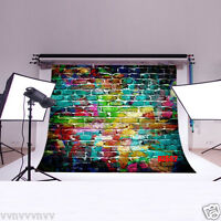 Vinyl Backdrop Photography Props Photo Background Color Brick Wall 7x5ft Dz662