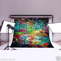 Vinyl Backdrop Photography Props Photo Background Color Brick Wall 7x5ft Dz662