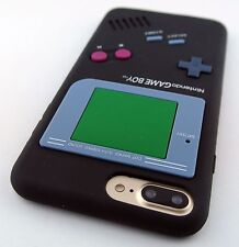 BLACK FUN GAME BOY GAMEBOY SILICONE RUBBER SKIN CASE COVER APPLE IPHONE 7 PLUS