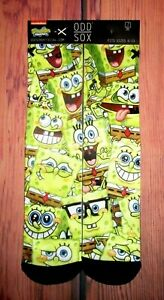 MENS-ODD-SOX-SPONGEBOB-SQUAREPANTS-CREW-SOCKS-ONE-SIZE