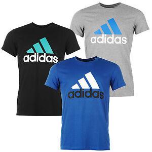 Adidas-Herren-T-Shirt-Essential-Logo-Tee-Shirt-Climalite-Cotton-NEU-S-XXL-T01