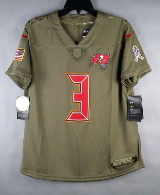 NWT Tampa Bay Bucs Support Military Buccaneers Jersey Womens Size L 3  Winston 002c52807