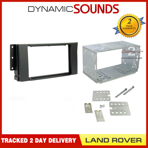 CT23LR02A Black Double Din Fascia Adapter Kit For Land Rover Discovery 2005-2009