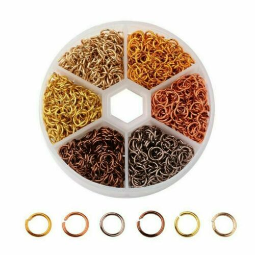 1080pcs 6mm Aluminium Multicolor Open Jump Ring Connector for DIY Jewelry Making