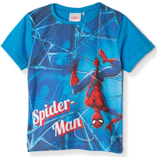 Official Spiderman Marvel Boy/'s Top T-Shirt Single or Set of 3 100/% Cotton 2-8y