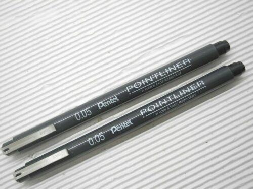 2 New Pentel S20P 0.5mm  Pointliner water /& Fade Resistant drawing Artist Black
