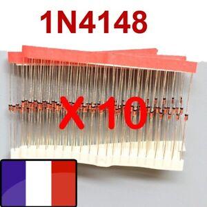 Lot de 10 à 250 x 1N4007 Diode redressement 1N4001//1N4002//1N4003//1N4004//1N4005