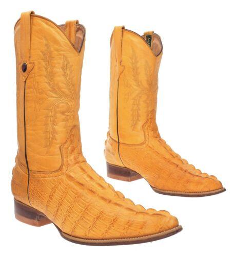 CUSTOM Cowboy Boots 9 M Mens Exotic ALLIGATOR Embo