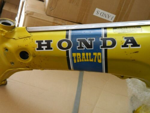 Honda ct70 K1 blue decals set semi model late 71-73 semi models with yellow lett