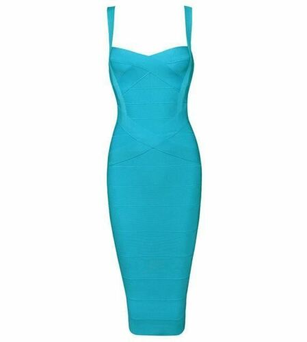 Women/'s Midi Bandage Dress Spaghetti Strap Bodycon Club Party Dresses Vestidos