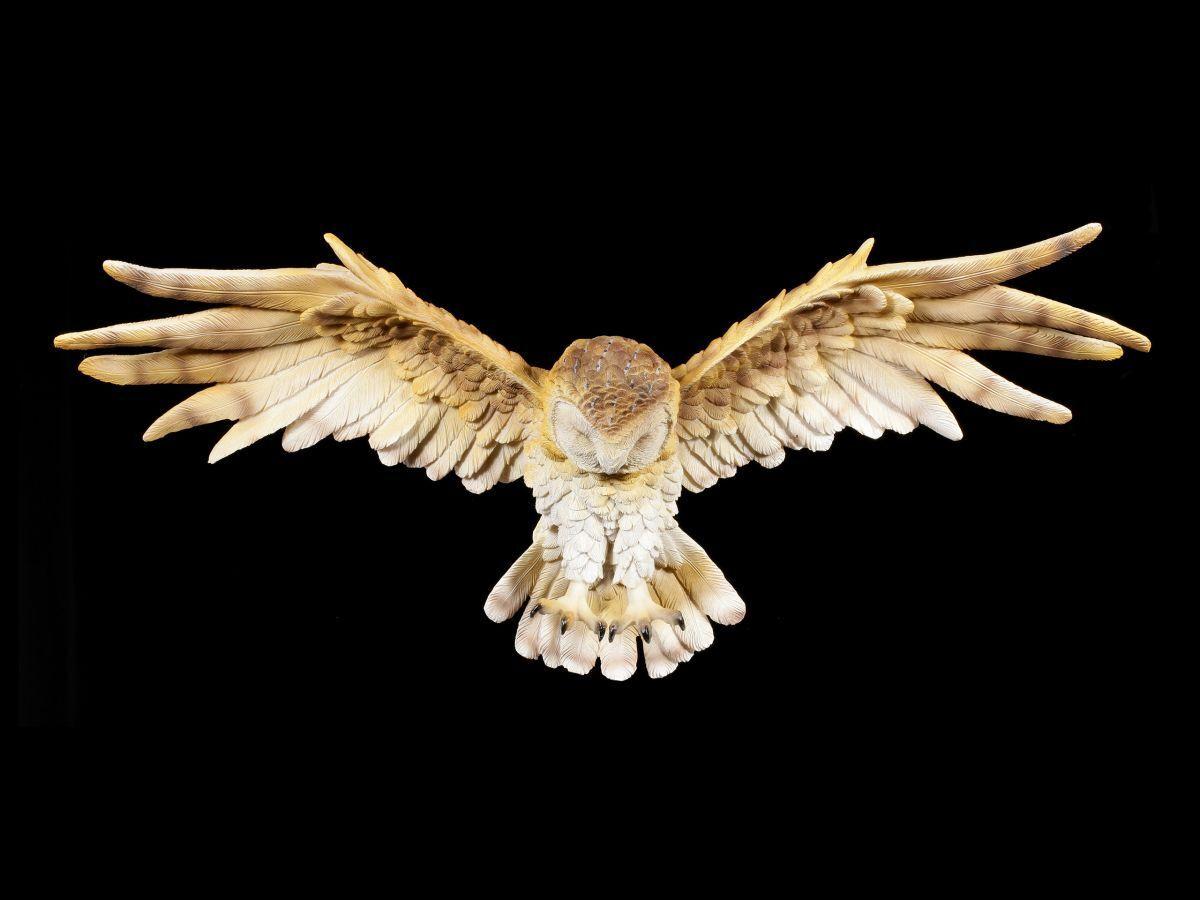 Eulen Figur zum Hängen - Wisdom Flight - Vogel Uhu Käuzchen Wanddeko