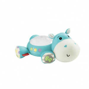 Fisher-Price-Hippo-Plush-Projection-Newborn-Soft-Light-Projector-White-Noise-Toy