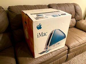 Launch Day Apple iMac G3 233 MHz Rev A Bondi Blue w/ Box, Accessories, & More