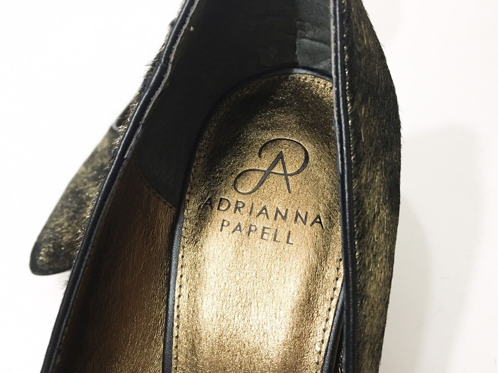 NEW Adrianna Papell Papell Adrianna Adele Bronze Metallic Calf Hair Dress Heel Pumps Größe 10 fd2739