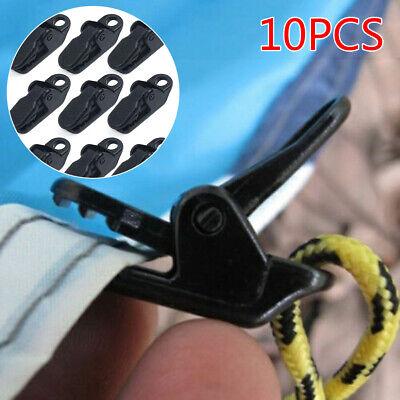 10 Pcs Tente Clip Heavy Duty Tarp Clips R/églable en Plastique Coupe-Vent Tente Clip R/éutilisable Ext/érieure B/âche Clips Strong Lock Grip pour Camping Canopy Clip Nylon Spirale