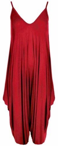 Ladies Oversized All In One Lagenlook Sleeveless Strappy Cami Baggy Rompers
