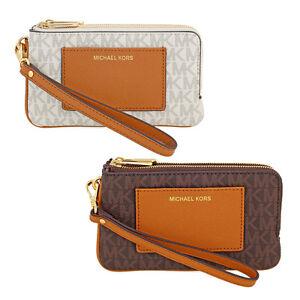 Michael-Kors-Medium-Bedford-Leather-Wristlet-Choose-color