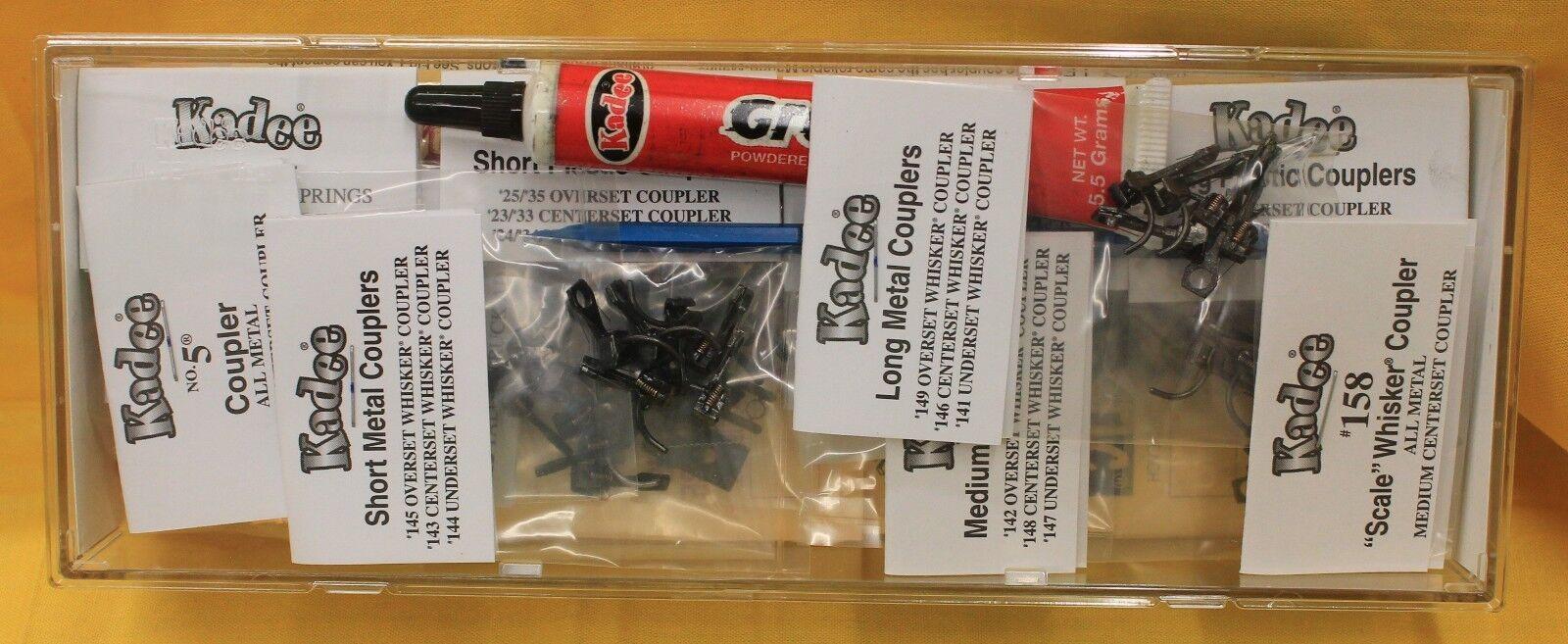 2pr Kadee 143 Metal Whisker Magne-Matic Coupler Short 1//4 Centrst