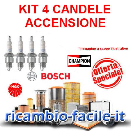 4 CANDELE ACCENSIONE NGK FIAT PANDA 169 1.1 1.2 8V 188A4000 187A1000 BKR5EZ