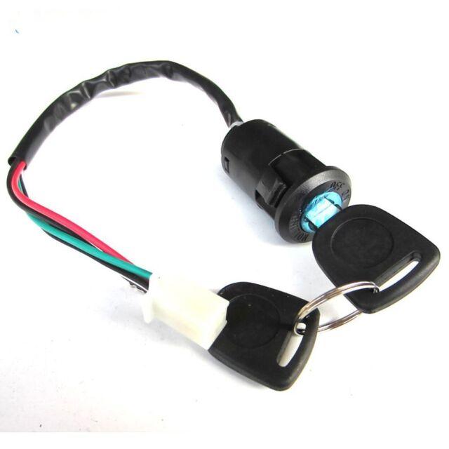 Electric Door ATV Ignition With 2 Keys Switch Lock 4 Wires Dustproof Cap