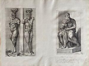 François Perrier Roma Antike Michelangelo Moses Bible Mythologie Faun Satyr 1638