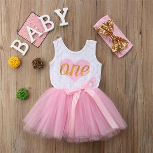 Swell Newborn Baby Girl 1St Birthday Party Bowknot Tutu Dress Princess Funny Birthday Cards Online Inifofree Goldxyz