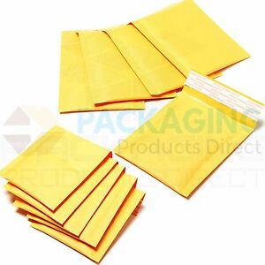 Image Is Loading 300 X Gold Padded Bubble Envelopes 290x445mm Pp9