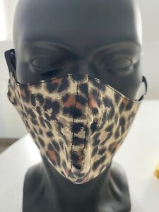Masque de protection en tissu (tutoriel CHU) Léopard Marron