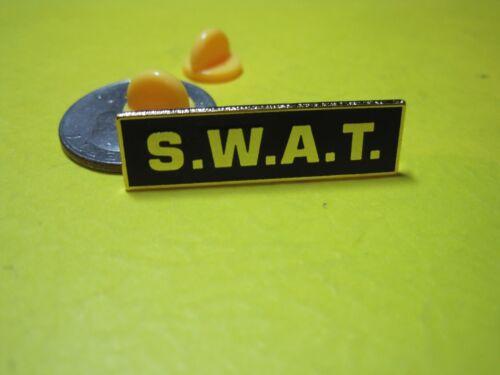 SWAT LAPEL HAT PIN BLACK GOLD CLUTCH PIN BACKS LOOK UNIFORM LE TACTICAL GEAR