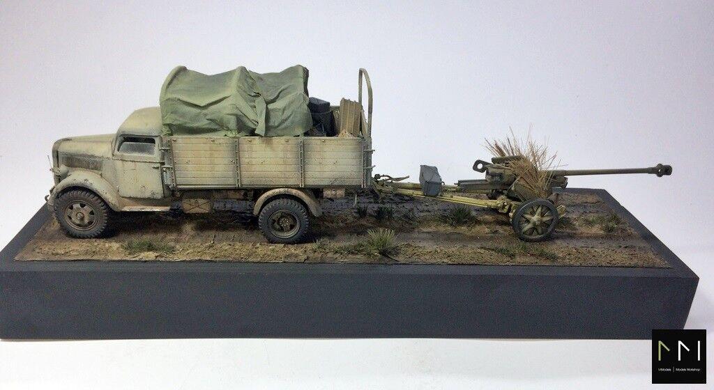 Diorama   Opel Blitz + Pak 40  1 35 - built and painted
