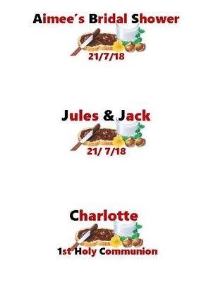 9 Labels Mini Nutella Personalised Happy EID Mubarak ANY NAMES