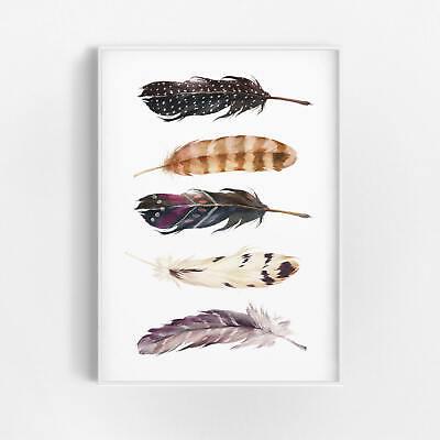 Feder deko kunstdruck poster wandbild wohnzimmer boho chic for Kunstdruck wohnzimmer